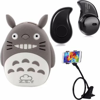 XZY 1011 Totoro 20000mah Power Bank (Gray) with V4.1 HeadsetBluetoth and Lazypod (Assorted Color)