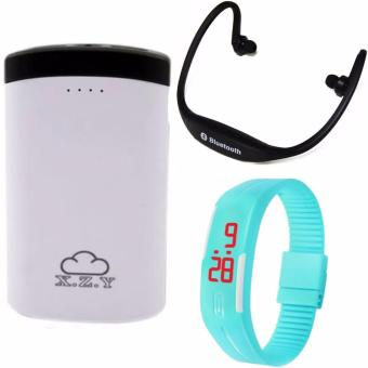 XZY 1012 20000mAh Power Bank Double USB (White/Black) With HeadsetStereo(Color May Vary) And Led Watch (Color May Vary) Price Philippines