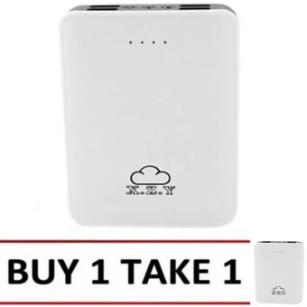 XZY 1018 20000mAh 4 USB Port Power Bank (White/Grey) BUY 1 TAKE 1