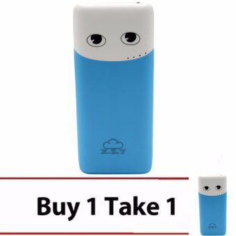 XZY 1033 20000mAh Double USB Port Power Bank (Blue) BUY1 TAKE1