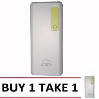 XZY 1042 20000mAh Power Bank Double USB (White/Green) BUY1 TAKE1