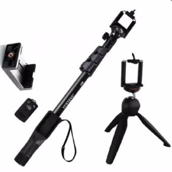 XZY YunTeng YT-1288 Extendable Selfie Stick Monopod Pole withBluetooth Shutter/Clicker for Smartphones and IOS (Black)WithYT_288(Black) Price Philippines