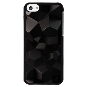 Y&M Abstract Black Pattern Phone Case for iPhone 5C(Multicolor)