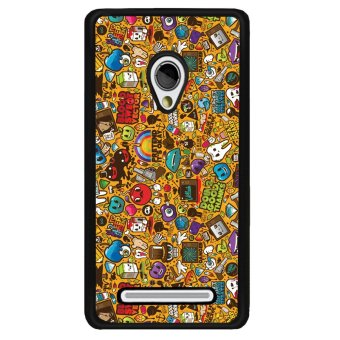 Y&M Asus Zenfone 5 Mobile Case Funny Comic Printed Cover(Multicolor)