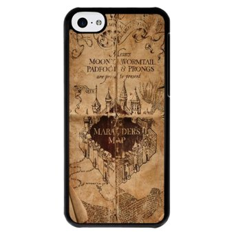 Y&M Cell Phone Case For iPhone 5c Harry Potter Map PatternCover (Multicolor) Price Philippines