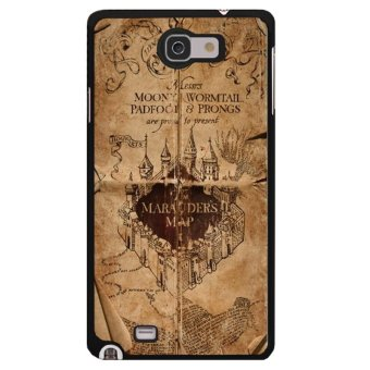 Y&M Cell Phone Case For Samsung Galaxy Note 1 Harry Potter MapPattern Cover (Multicolor)