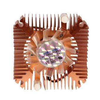 YBC 55mm Cooler Cooling Fan for CPU VGA Video Card Bronze Mini Professional - intl