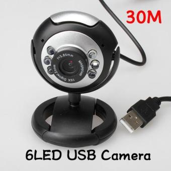 YBC 8.0 Mega LED Webcam Web Cam Camera Laptop Computer With Mic - intl