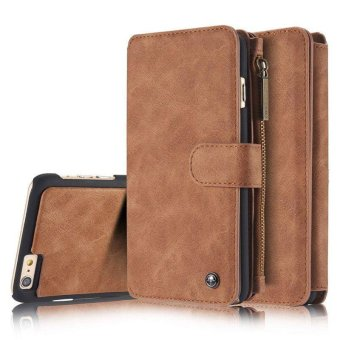 YBC Genuine Leather Wallet Card Case Cover For iPhone 6 - intl