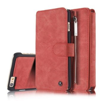 YBC Genuine Leather Wallet Card Case Cover For iPhone 6s - intl