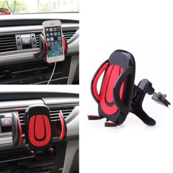 YBC Universal Car Air Vent Air-vent Mount Cradle Phone Holder Stand - intl