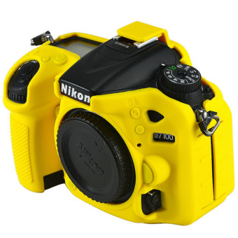 Yellow Rubber Camera Case Bag for Nikon D7100 D7200