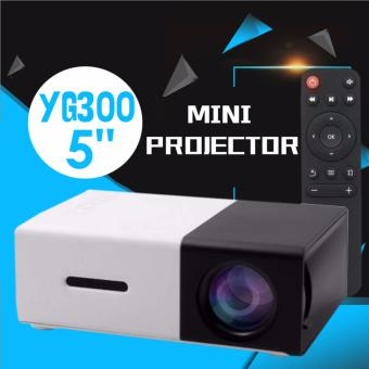YG300 USB/SD/AV/HDMI Input Portable LED Projector Cinema Theater (Black)