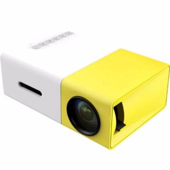 YG300 USB/SD/AV/HDMI Input Portable LED Projector Cinema Theater (Yellow)