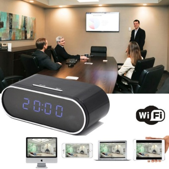 Yika WIFI 1080P HD SPY Hidden Clock Camera IR Night Vision MotionDetection Video Cam - intl Price Philippines