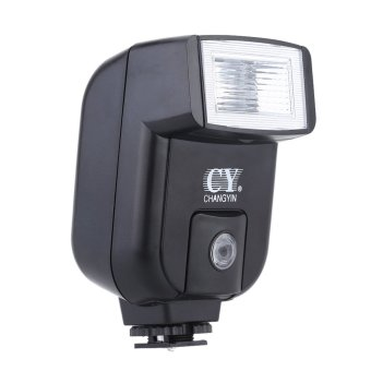 YinYan CY-20 Mini Universal Flash Speedlite Hot Shoe Sync Port with Adjustable Pitch Angle for Nikon Canon Panasonic Olympus Pentax Sony Alpha