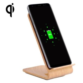 YoLike A8 10W QI Wireless Standard Stand Light Wood Texture ChargerFor Samsung Galaxy S8 / S8 + / S7 Edge / S7 / S6 / S6 Edge / S6Edge + / Note 5 - intl