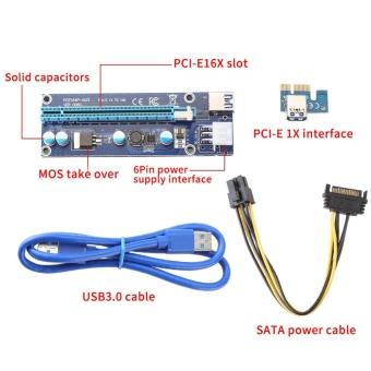 YOSOO PCI-E Express 1x to 16x Graphics Card Riser Adapter - intl - 4