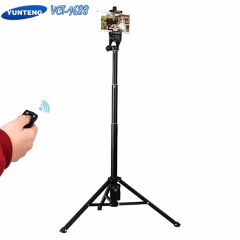 Yunteng VCT-1688 with Bluetooth Remote 3 in 1 Monopod, SelfieStick, Handheld Tripod for Smartphones,Cameras, And Gopro, ActionCameras(Black) with Free Fidget Spinner(color may vary)
