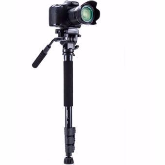 Yunteng VCT-558 Camera Tripod Monopod Unipod + 360 degree Fluid PanHead for Canon Nikon Sony Olympus DSLR - 5