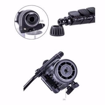 Yunteng VCT-558 Camera Tripod Monopod Unipod + 360 degree Fluid PanHead for Canon Nikon Sony Olympus DSLR - 4
