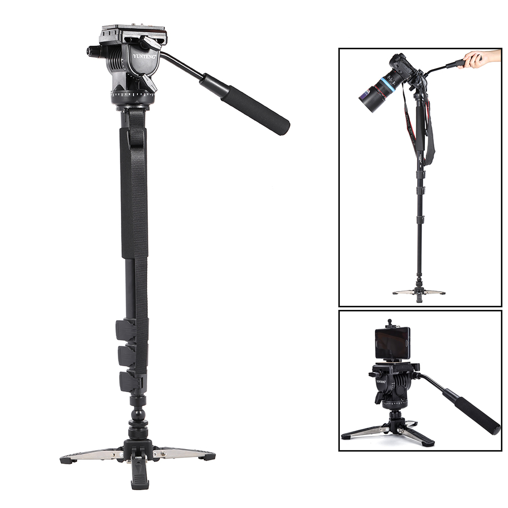 Philippines Yunteng Vct 588 Extendable Telescoping Monopod With Tripod Yt 880 Detachable Stand Base Fluid Drag Head For