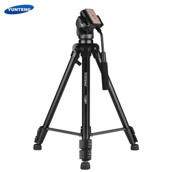 YUNTENG VCT-880 Portable Aluminum Alloy Tripod 3-Section Telescoping with 2-Way Damping Ball Head for Canon Nikon Sony DSLR Camera Camcorder Max Load Capacity 5kg - intl