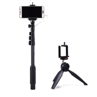 Yunteng Yt-1188 Wired Selfie Stick Monopod With Yt-228 Mini Tripod Mount For Digital Camera & Smartphone And free Unique Lazy pod with Free USB Light (Color May Vary)