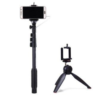 Yunteng Yt-1188 Wired Selfie Stick Monopod With Yt-228 Mini TripodMount For Digital Camera & Smart Phone With Free Phone RingStand