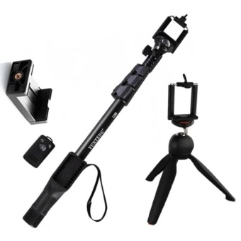 Yunteng YT-1288 42.5cm Bluetooth Selfie Monopod Extendable HandheldPole with Shutter Remote Control (Black) With YT_288 Tripod