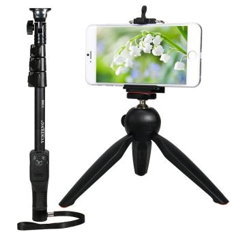YunTeng yt-1288 Bluetooth Shooting Monopod with yt-228Tripod forMobile phones and Sport Camera
