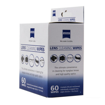 Zeiss Pre-Moistened Lens Screen Optical Camera Cleaning Cloth Wipes60Pcs In Box - 5