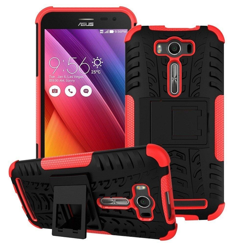 Philippines Zenfone 2 Laser Ze500kl Back Case Armor Hybrid Rugged Asus 6 Heavy Dutyhard Cover With Kickstand For
