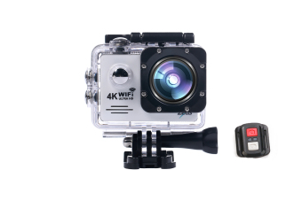 Zeus W8R 4K Wifi Ultra HD Action Pro Sports Camera With Remote (White)