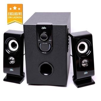 Zeus Z-350 2.1 Multimedia Bluetooth/Wired 2in1 Speaker with SD/USB (Black) - 2