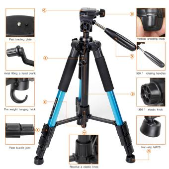 ZOMEI Q111 Professional Aluminium Tripod Stand for DSLR Camera - Blue - intl