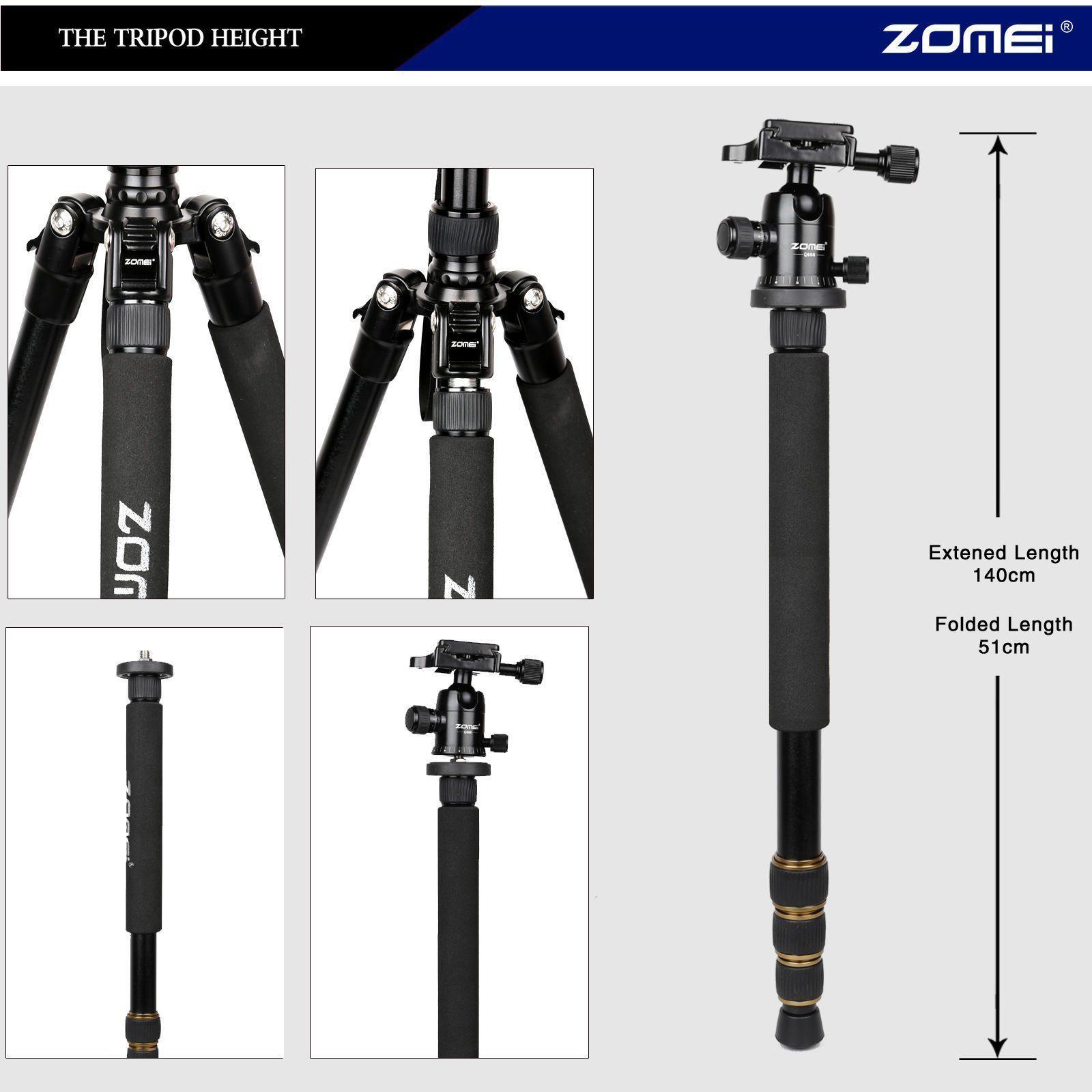 Philippines Zomei Q666 Portable Camera Aluminium Tripod Monopod Beike Qzsd 02 With Ball Head For Dslr Canon Nikon Sony Dv