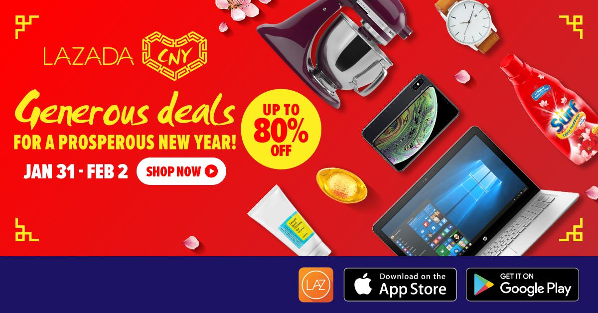 Generous Deals for a Prosperous New Year - Up to 80% OFF