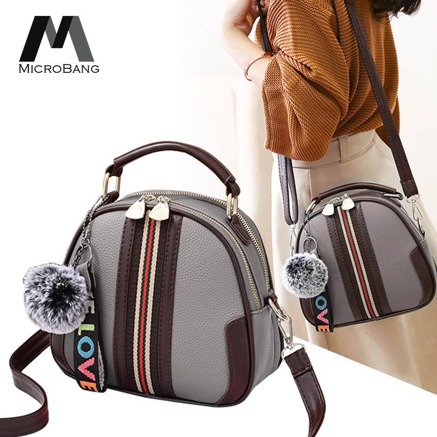 กระเป๋าเป้สะพายหลัง นักเรียน ผู้หญิง วัยรุ่น นราธิวาส MicroBang Fashion กระเป๋าสะพายพาดลำตัว Leather Bag Tote Messenger Shoulder bag