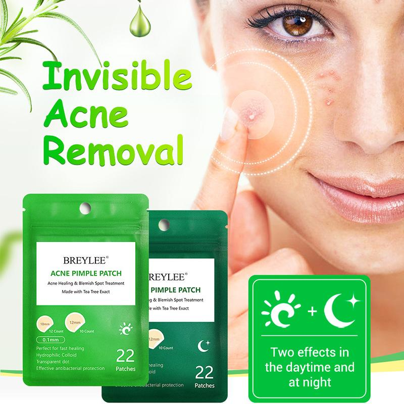 BREYLEE Facial Acne Pimple Invisible Patch Acne Remover Treatment Day and  Night