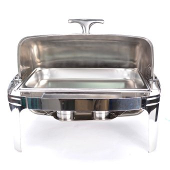 0071 Chaffing Dish-Square Roll Top