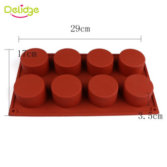 1 Pc 8 Holes Round Shape Silicone Cake Mold 3D Handmade Cupcake Jelly Pudding Cookie Mini Muffin Soap Mold DIY Baking Tools - intl - 2