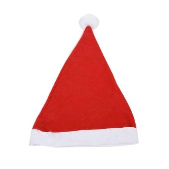 1 PC Hot selling!White Rim Santa Christmas Hat Christmas Bonnet with Braids for Adult Women christmas decoration - intl