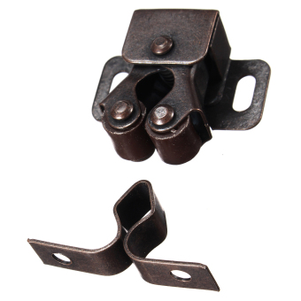 1 Pcs Double Roller Catches Cupboard Cabinet Door Latch Hardware Copper
