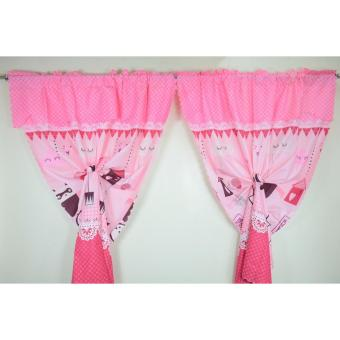 1 Piece Black Love You Curtain (Pink) Price Philippines