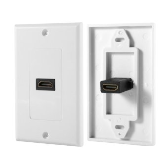 1 Port Gold Plated HDMI with Ethernet Wall Plate Face Cover forHome Theater DVD(White) - intl - 5