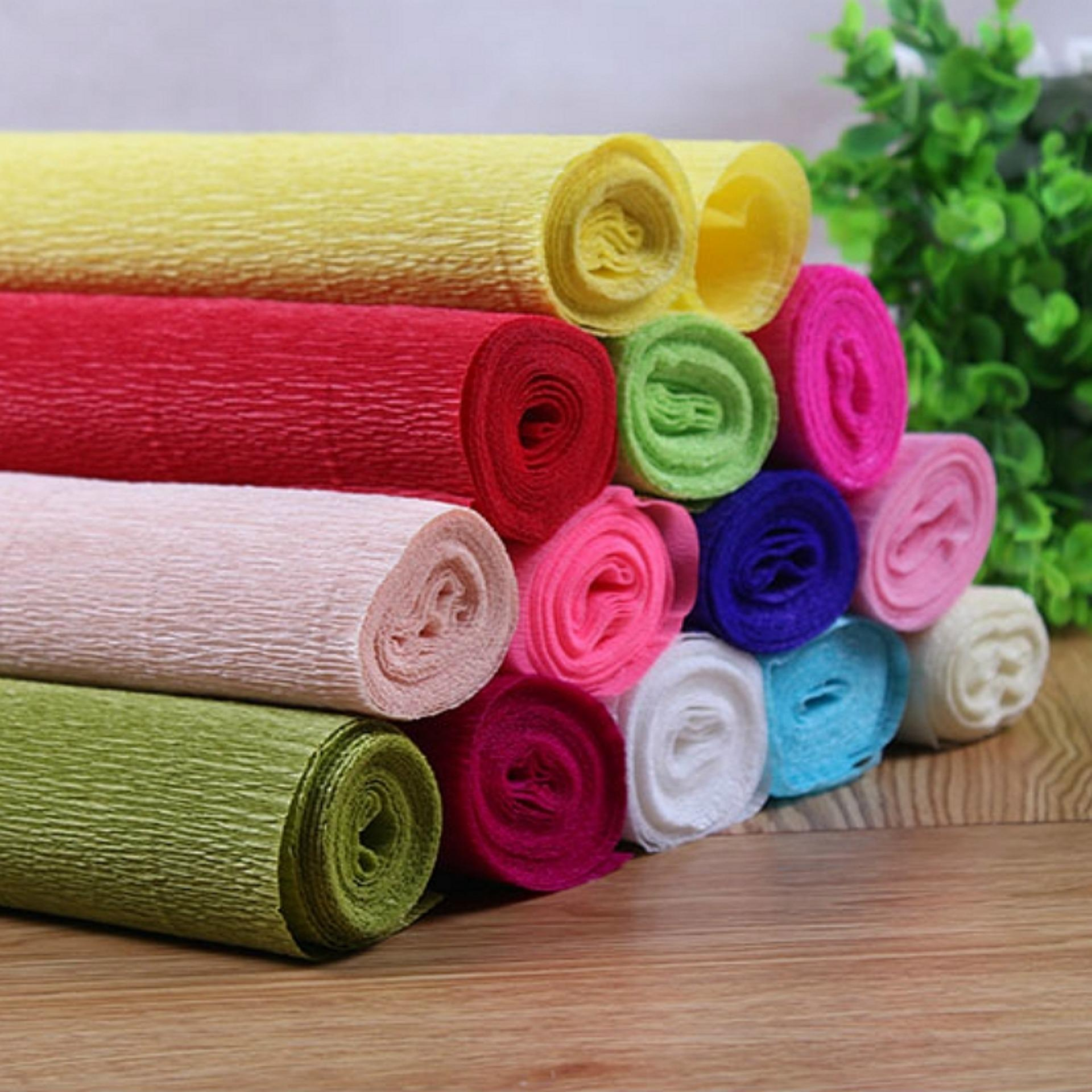 Philippines 1 Roll Diy Flower Making Crepe Papers Wrapping Flowers