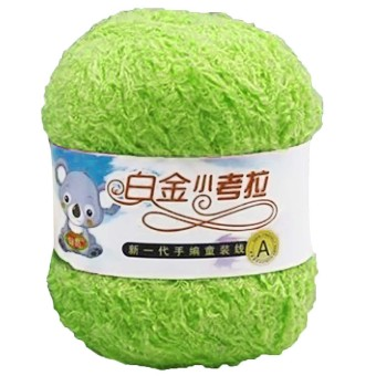 1 Roll Pure Cotton Thick Warm Knitting Crochet Craft Yarn BallFruit Green