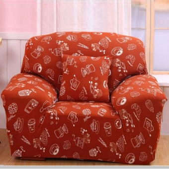 1 Seater High Elasticity Anti-mite Floral Chair Covers Sofa Cover Slipcover Couch - Intl - 2