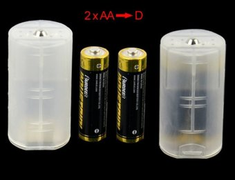 1 set 4pcs Cell Battery Adaptor Holder Case Converter Switcher AAto D Batteries Adapter AA to C Battery Box AAA to AA Size - intl - 5